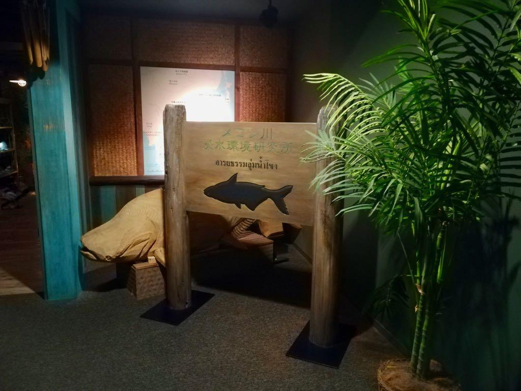 2階フロアに進むと現れる「メコン川淡水環境研究所」