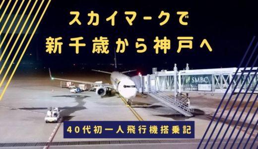【スカイマークの乗り方】40代にして初一人飛行機。新千歳から神戸はスカイマークが快適でした。
