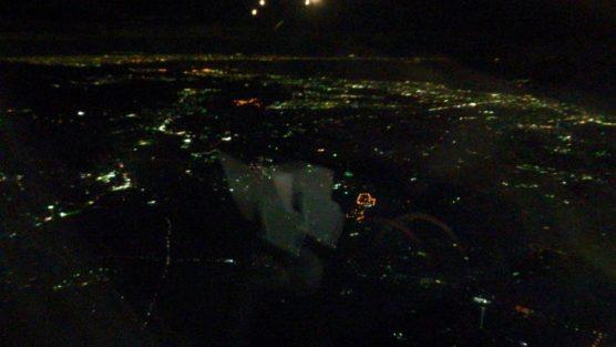 スカイマークから神戸方面の夜景