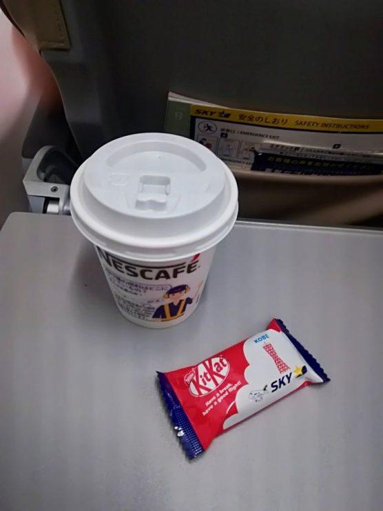 無料のコーヒーとキットカット