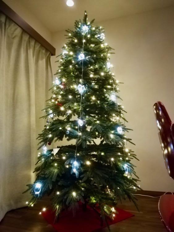 【2018 中城産業の210cmブランデックツリー】クリスマスツリーにIKEAのLEDイルミネーションを追加してみた