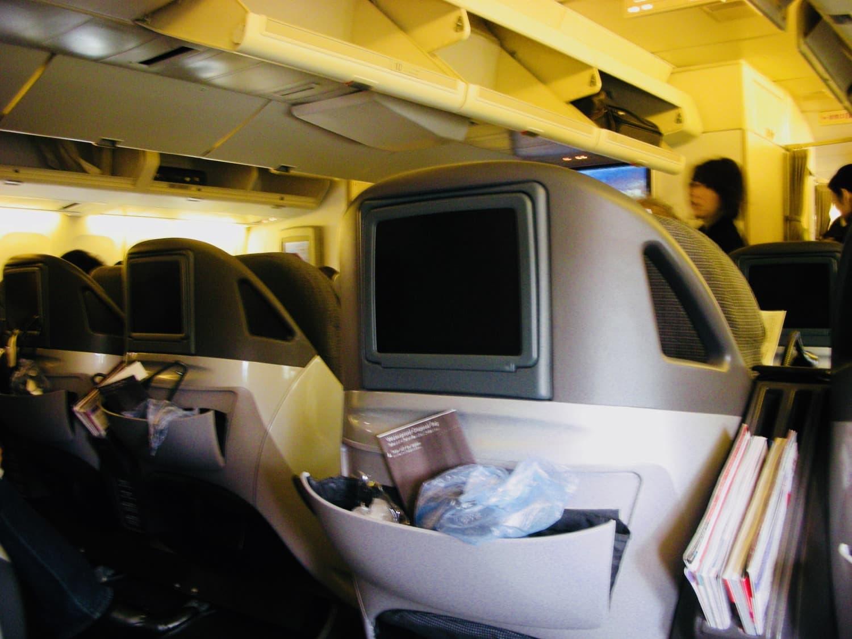 いよいよ搭乗。初めてのビジネスクラス。
