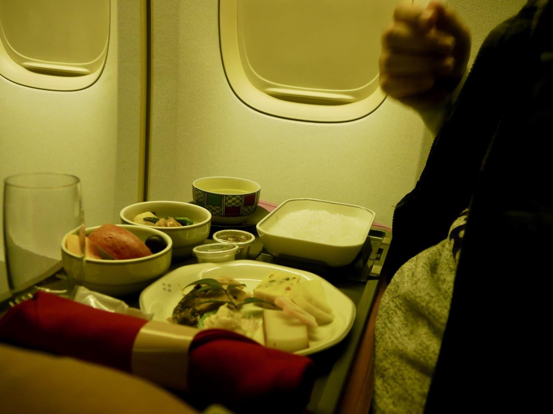 JL417機内で2回目の食事(和食)