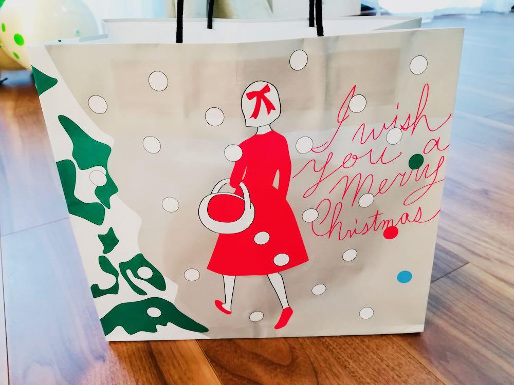 オードリー「AUDREY Christmas 2018」数量限定クリスマス缶の紙袋【かわいいお菓子】
