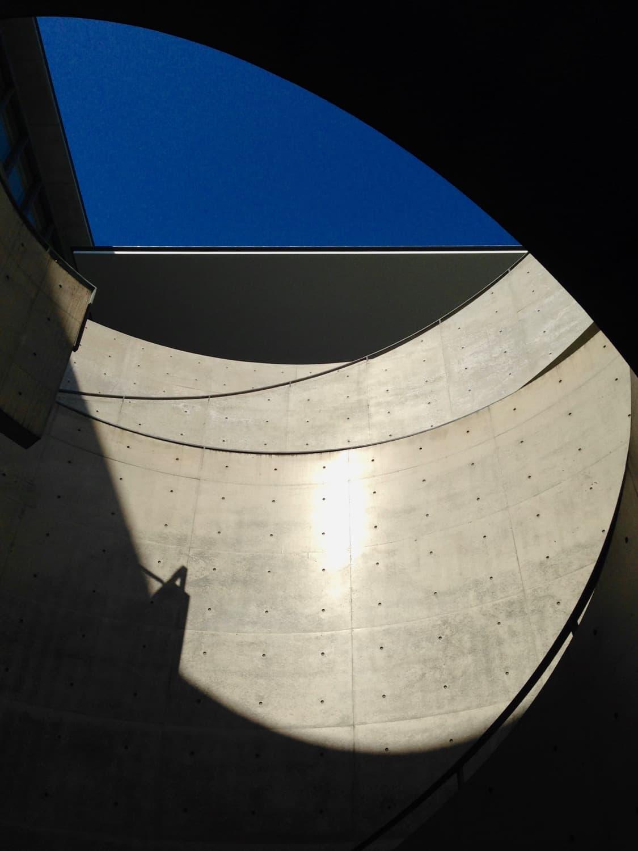 円形広場の階段
