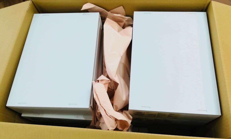 中を開けるとこんな感じで書類ケースが入れられています